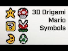 Origami Mario Symbols – Modular Origami [ How to Make - Showcase ] Modular Origami, 3d Origami, Mario Fan Art, How To Make Origami, Paper Artwork, Art Base, Stop Motion, Medium Art, Pattern Art