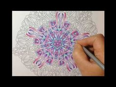 Angie Grace coloring book - coloring with marco raffine pencils - tutorial - YouTube