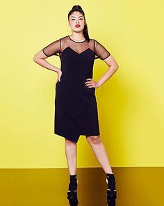 c6223d3678 Simply Be Mesh Trim Bodycon Dress   Simply Be Plus Size Maxi Dresses, Plus  Size