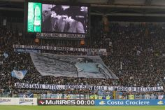 #Striscione dei tifosi laziali in @officialsslazio-@sscnapoli durante il campionato di calcio @SerieA_TIM 2011-2012