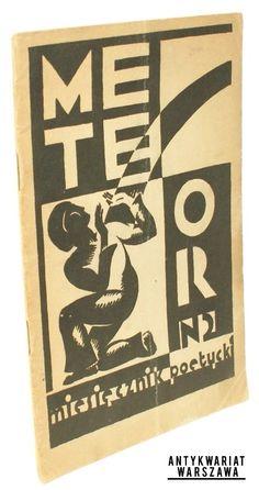 Meteor. Miesięcznik poetycki Zeszyt drugi  Marzec 1928 Paperback designed by Zbigniew Karpiński
