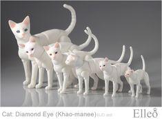 Khao-manee Cat Bjd 03 by leo3dmodels.deviantart.com on @deviantART