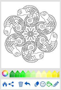 Coloring Book Animal Mandala Screenshot Thumbnail