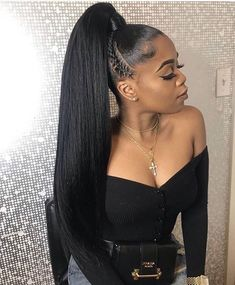 hairstyles demo hairstyles kinky hairstyles medium length hair hairstyles in a ponytail hairstyles without weave hairstyles straight hair hairstyles updo black braided hairstyles Hair Ponytail Styles, Black Ponytail Hairstyles, Sleek Ponytail, Box Braids Hairstyles, Straight Hairstyles, Curly Hair Styles, Ponytails For Black Hair, Long Ponytail Weave, Dance Hairstyles