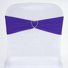 SEXY Spandex Chair Sash - Purple | eFavorMart /  Spandex, also known as Lycra is a wrinkle free stretchable material that expands effortlessly to adjust the size of the item you wish to drape. Our premium quality spandex Chair sashes are made from high quality four-way stretch spandex material that is highly durable, stretchable, and affordable. Our splendid stretchy spandex chair sashes can be used time and time again, without any need for ironing and can easily be laundered countless times…