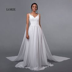 79b2290307ad LORIE Cheap Wedding Dresses Princess Sexy Backless Spaghetti Strap Pleats  Beach Tulle Real White Bridal Gown Free Shipping