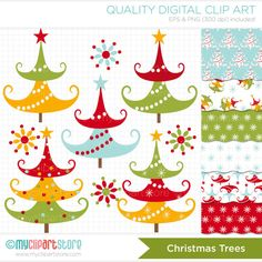 Shop for clipart on Etsy, the place to express your creativity through the buying and selling of handmade and vintage goods. Christmas Tree Clipart, Christmas Signs, Christmas Crafts, Christmas Trees, Xmas, Pretty Drawings, Beautiful Drawings, Presents, Noel