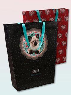 Pussy Deluxe Gift bag set 2 pcs. large 29,7 x 10 x 40 - NAPO Shop - der offizielle Nastrovje Potsdam Shop