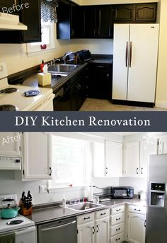 Our DIY kitchen renovation - before and afters #living room design #kitchen design ideas #kitchen decorating #kitchen decorating before and after| http://modern-kitchen-design-derick.blogspot.com