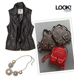 Vests, backpack purses and statement necklaces are some of our favourite women's accessories this fall