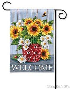 BreezeArt Garden Flag Bandanna Sunflowers Spring Flowers Summer NEW