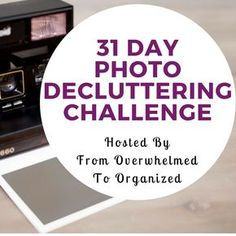 Overwhelmed with photos? Join the 31 Day Photo Decluttering Challenge! Tips for decluttering digital and printed photos in each day& post. Declutter so you can enjoy your special pictures more! Photoshop Photography, Digital Photography, Photography Tips, Photography Website, Photography Supplies, Photography Lighting, Professional Photography, Photography Business, Photography Tutorials