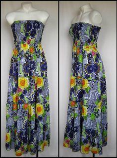 Maxi Hippie FESTIVAL Cotton/voile Strapless Dress