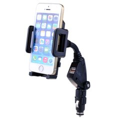 Dual USB Car Cigarette Lighter Mount Holder Stand Charger for iPhone 6 6 Plus 5 in Cell Phones & Accessories, Cell Phone Accessories, Mounts & Holders   eBay