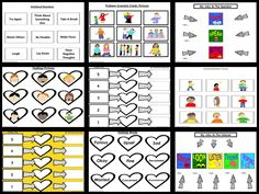Problem Sizes, Emotions and Reactions: These lesson plans explicitly teach children to identify different sizes of problems, to think about the way they feel when experiencing the problems, and to match their emotional reactions to the size of the problems. Address over reactions and under reactions. Can be used in small groups or as a whole class lesson. Social Skills For Kids, Social Skills Activities, Hands On Activities, Classroom Activities, Teaching Kids, Teaching Resources, Positive Behavior Support, School Social Work, Coding For Kids