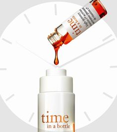 Get to know Philosophy's innovative new antiaging serum, Time in a Bottle. Read more on the Glossy! #Sephora