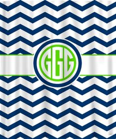 Custom Personalized Chevron Shower Curtain - your colors. $78.00, via Etsy.