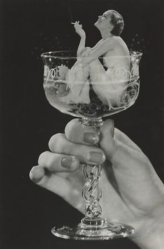 Unknown: Woman in Champagne Glass, 1930