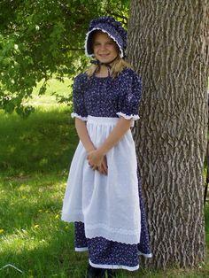 Pioneer Clothing | Girls Pioneer Prairie Colonial Dress Costume by PioneerPieces