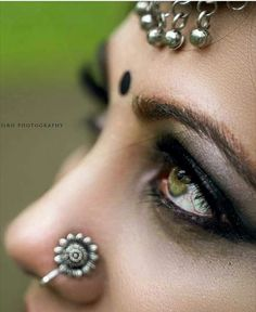 Nose Ring Stud, Silver Nose Ring, Beautiful Girl Indian, Beautiful Eyes, Girls With Nose Rings, Nose Ring Designs, Nose Jewels, Unique Nose Rings, Indiana