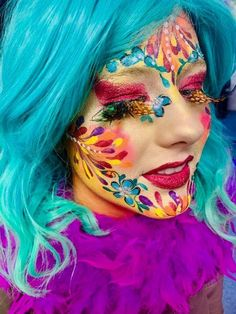 - Famous Last Words Face Painting Flowers, Face Painting Designs, Body Painting, Halloween Make Up, Halloween Face Makeup, Character Makeup, Facial, Maquillaje Halloween, Up Costumes