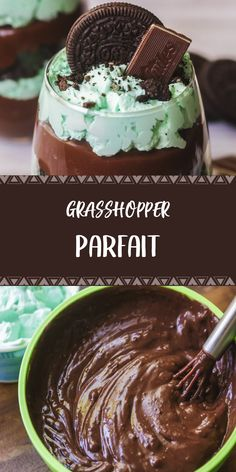 Ingredients 15 OREO Cookies Chopped (about 1 cups) ANDES Chocolates chopped oz JELL-O Chocolate Instant Pudding 2 - packages 4 c. Yummy Treats, Sweet Treats, Yummy Food, Tasty, No Bake Desserts, Just Desserts, Poulet Sauce Curry, Poulet Weight Watchers, Parfait Recipes