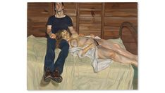 View Julie and Martin By Lucian Freud; oil on canvas; Access more artwork lots and estimated & realized auction prices on MutualArt. Lucian Freud, Francis Bacon, David Hockney, Painting Process, Figure Painting, Most Expensive Painting, Royal Collection Trust, Tate Britain, London