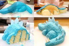 Dino cake instructions