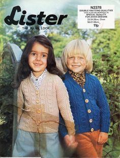 vintage childs / childrens aran cardigan knitting pattern pdf DK cable jacket v neck 22-26 inch DK light worsted 8ply Instant Download by Minihobo on Etsy
