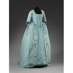 Love the colour of this sack and petticoat from the later altered during the and between What a life! Fashion Designer Quotes, Vintage Outfits, Vintage Fashion, Rococo Fashion, 18th Century Fashion, 19th Century, Historical Clothing, Fashion Plates, Fashion History