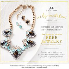 Contact me today to find out more about Chloe + Isabel's exclusive Merchandiser opportunity! www.chloeandisabel.com/boutique/michellemoore1