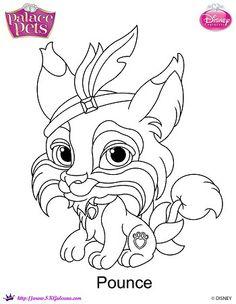 Disney Princess Palace Pet Pounce Coloring Page | SKGaleana