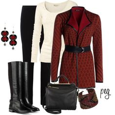 Patterned jacket, created by derniers on Polyvore