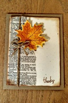 Splitcoast stampers gallery -leafy thank you