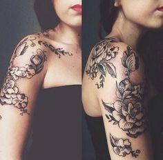 beautiful tattoo line work