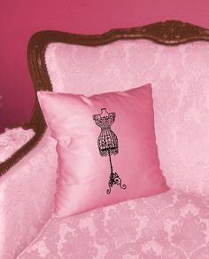 Transfer on a pink pillow... nice!