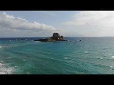 Kastri Island aerial views, in Kefalos on the island of Kos in Greece. Kos, Greece, Island, Videos, Water, Youtube, Outdoor, Greece Country, Gripe Water