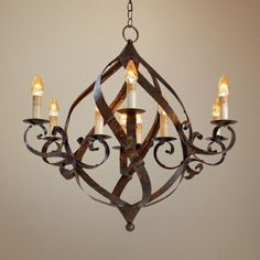 Currey and Company Gramercy 9-Light Chandelier -  this is what we have in the master