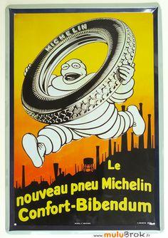 Tole publicitaire Bibendum pneu MICHELIN . www.muluBrok.fr Vintage