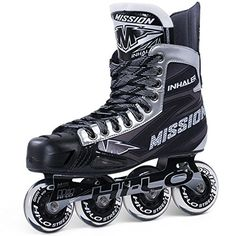 Roller Hockey Skates - Mission Inhaler NLS06 Inline Hockey Skates  Senior -- You can get more details by clicking on the image.