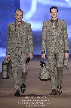 ETRO Man Autumn Winter 14-15 Fashion Show. Pronto en Beauty Hunter hombres.