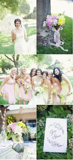I like the 2 different color bridesmaid dresses