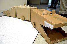 Great idea! #Recycled #Cardboard #creativity: make a crocodile train from milimboblog.com