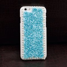 """@pretty_design's photo: """"3D Flower +Lace iPhone 6 Plus Case (Baby Blue) F9S - Freaking Nice  The Way to be Special @Accessories_trend Worldwide Selling at  www. Fashion9shop.com Now Available on Global Site!!!"""""""