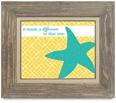 Starfish Print by Whimsical Wonder Designs on etsy, $15 / This print is available in 5 different designs. All proceeds go to help a couple adopt from Eastern Europe.