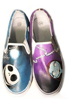 Zapatos personalizados pintados a mano furgonetas pesadilla
