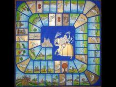 El juego de la oca del Camino de Santiago inspirado en el arte medieval - YouTube