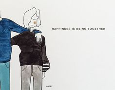 Happiness by Marta Scupelli • www.stripe-me.com English Words, Happiness, Artists, My Favorite Things, Happy, Color, Design, Winter Fashion Looks, Bonheur