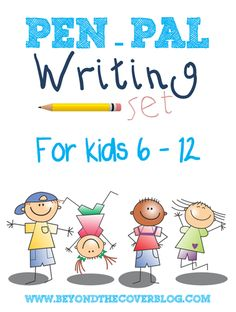 A pen-pal writing set for kids 6-12 years old. Free printable.   www.beyondtheinspiration.com