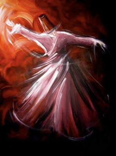 Enough of words ~ Rumi Rumi Poetry, Whirling Dervish, Turkish Art, Rumi Quotes, Dance Art, Painting Lessons, Calligraphy Art, Islamic Calligraphy, Old Art